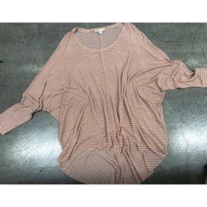 Grayson pink striped oversized long sleeve tunic